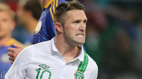 Robbie Keane missed Friday's 6-1 hammering by Germany because of injury
