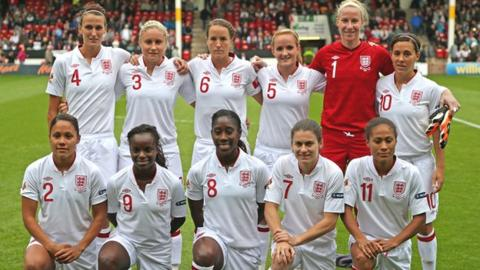 England women's team that played Croatia in September
