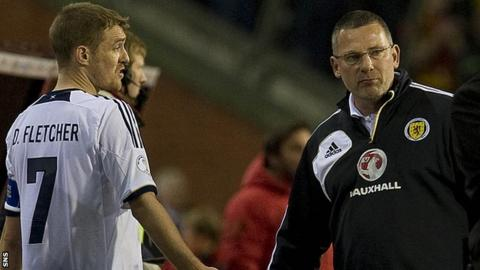 Scotland captain Darren Fletcher and manager Craig Levein