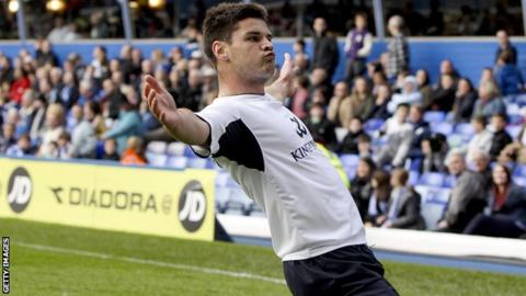 Ben Marshall celebrates his equaliser for Leicester
