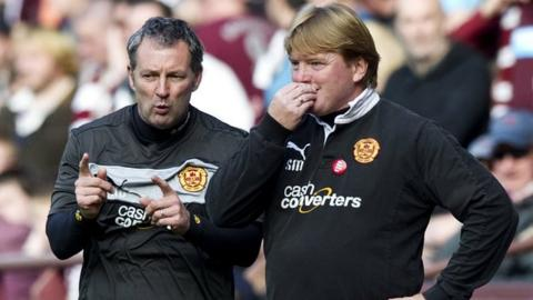 Stuart McCall with assistant Kenny Black