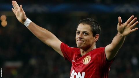 Manchester United strike Javier Hernandez