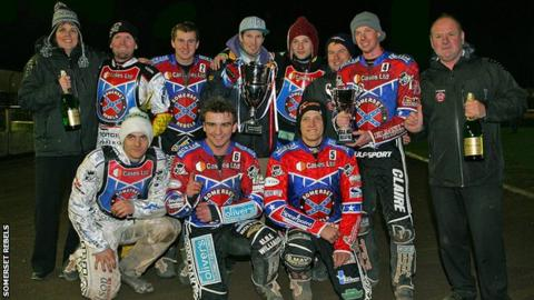 Somerset Rebels celebrate their League Cup win
