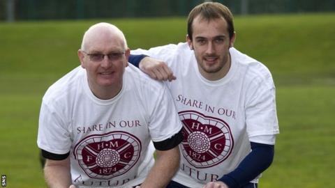 Hearts manager John McGlynn and goalkeeper Jamie MacDonald