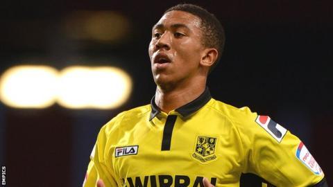 Tranmere Rovers midfielder Liam Palmer