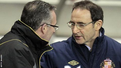 Paul Lambert and Martin O'Neill