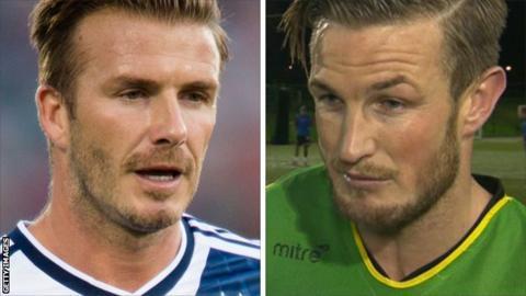 David Beckham (left) and Jamie Gleeson