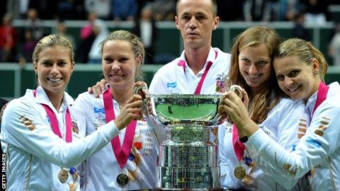 Czech Republic Fed Cup winning team