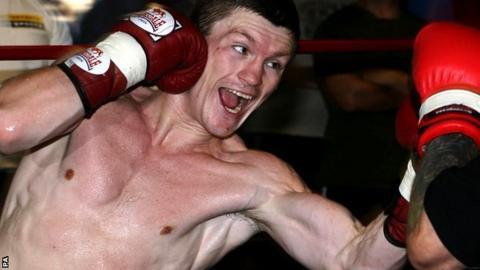 Ricky Hatton in training, circa 2005