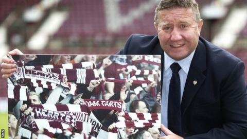 John Robertson is promoting the share offer at Hearts