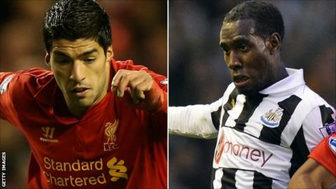 Luis Suarez and Vurnon Anita