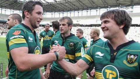 Phil Dowson and Lee Dickson