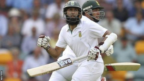 South Africa's Hashim Amla and Jacques Kallis