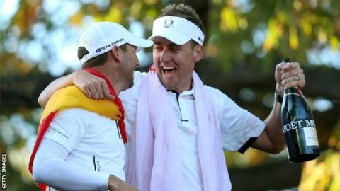 Ian Poulter is earning plaudits for his performance which helped Europe clinch the Ryder Cup