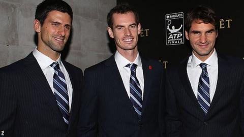 Djokovic, Murray and Federer