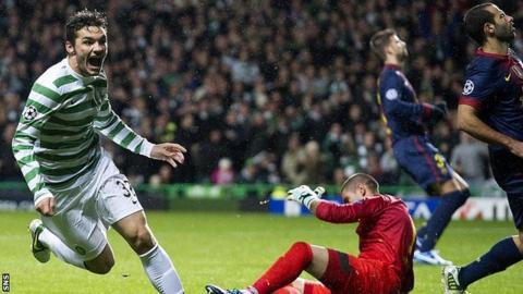 Celtic forward Tony Watt
