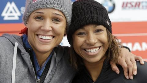 Lolo Jones and Jazmine Fenlator
