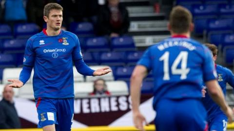 Inverness CT midfielder Owain Tudur Jones