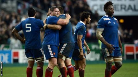 France celebrate victory over Australia