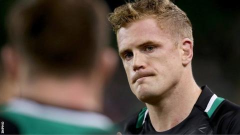 Jamie Heaslip shows his disappointment after the final whistle on Saturday