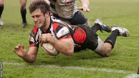 Ben Maidment goes over for a try