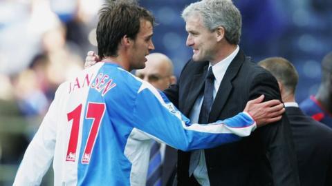 Matt Jansen (left) played under Mark Hughes at Blackburn