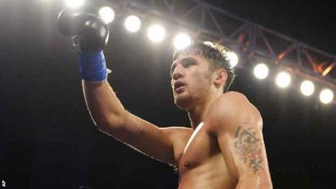 Nathan Cleverly celebrates victory