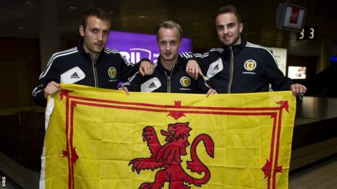 Liam Kelly, Leigh Griffiths and Andrew Shinnie