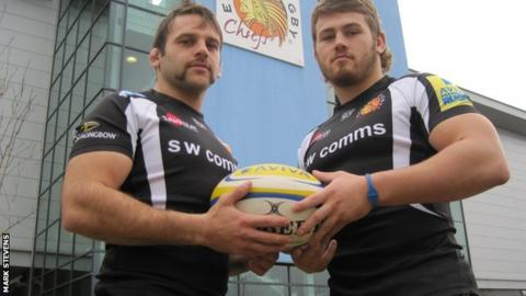 Chris Whitehead (left) and Luke Cowan-Dickie