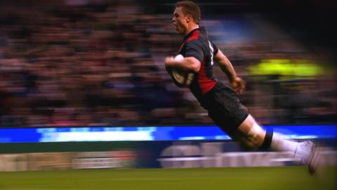 Chris Ashton scores a second try for England against Australia