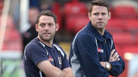 Leam Richardson and James Beattie