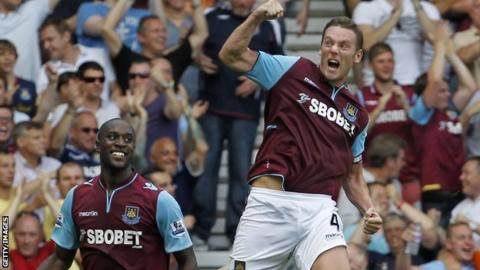 West Ham's Carlton Cole and Kevin Nolan