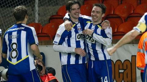 Kilmarnock twice led by two goal at Tannadice