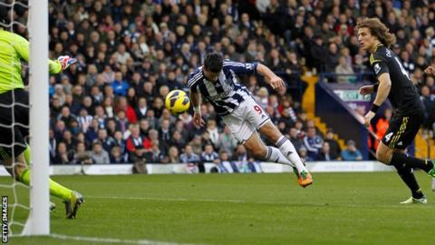 Shane Long scores for West Brom