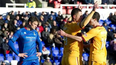 Inverness were soundly beaten by Motherwell
