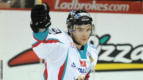 Darryl Lloyd opened the scoring for the Belfast Giants against the Cardiff Devils