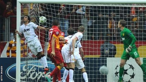 Burak Yilmaz of Galatasary scores
