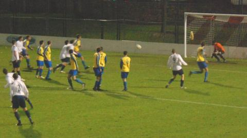 Scottish free-kick v St Ouen