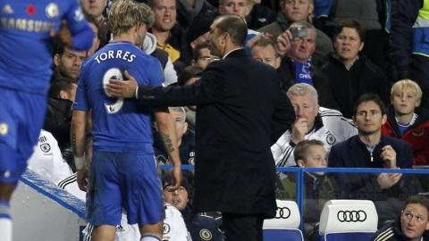 Roberto Di Matteo and Fernando Torres