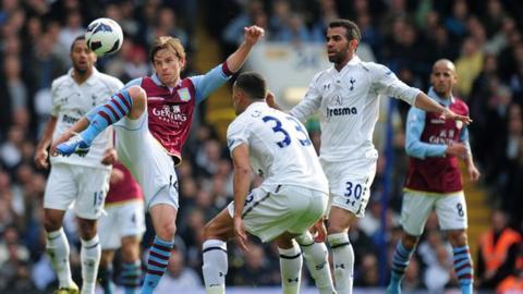 Brett Holman against Tottenham Hotspur in October