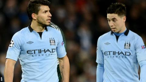 Sergio Aguero and Samir Nasri