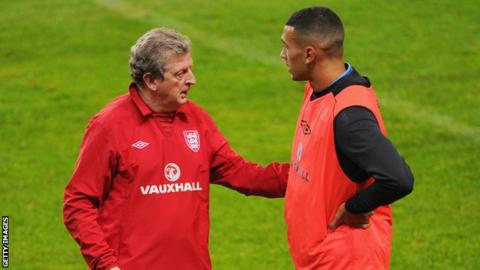 England manager Roy Hodgson (left)