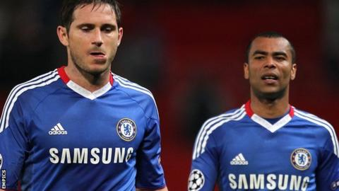 Chelsea's Frank Lampard and Ashley Cole
