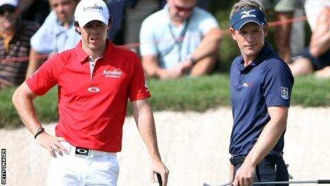 Rory McIlroy (left) and Luke Donald won the 2012 and 2011 Race to Dubai respectively