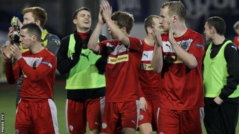 Cliftonville are leading the race for the Irish Premiership title