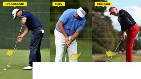 Golf putting strokes