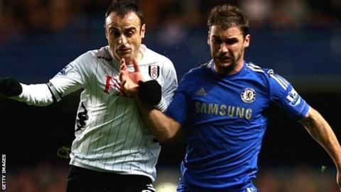 Dimitar Berbatov and Branislav Ivanovic