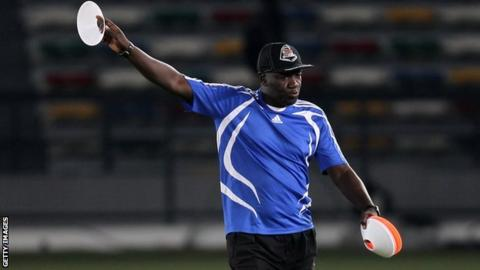 TP Mazembe's Senegalese coach Lamine Ndiaye