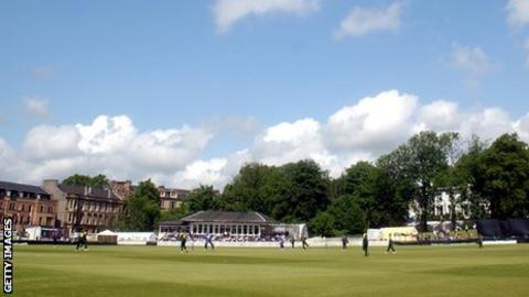 The venue for the first international football match, featuring Scotland and England