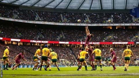 England v Australia at Twickenham